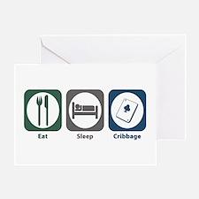 Eat Sleep Cribbage Greeting Card