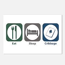 Eat Sleep Cribbage Postcards (Package of 8)