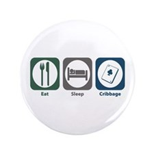 "Eat Sleep Cribbage 3.5"" Button"