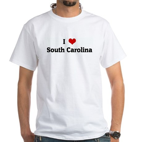 I Love South Carolina White T-Shirt