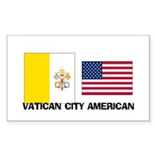 Vatican City American Rectangle Decal