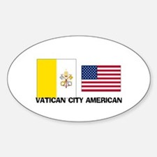 Vatican City American Oval Decal