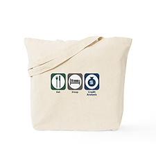 Eat Sleep Credit Analysis Tote Bag