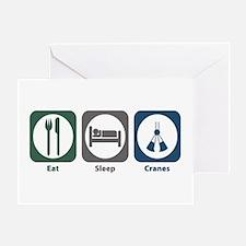 Eat Sleep Cranes Greeting Card