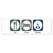 Eat Sleep Cranes Bumper Car Sticker