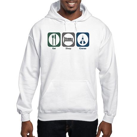 Eat Sleep Cranes Hooded Sweatshirt