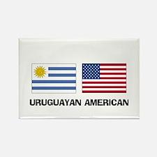 Uruguayan American Rectangle Magnet
