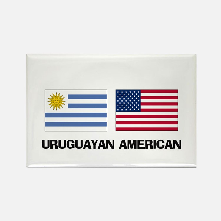 Uruguayan American Rectangle Magnet