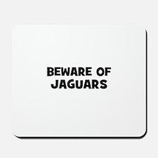 beware of Jaguars Mousepad