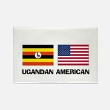 Ugandan American Rectangle Magnet