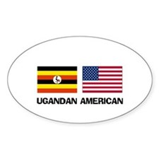 Ugandan American Oval Decal