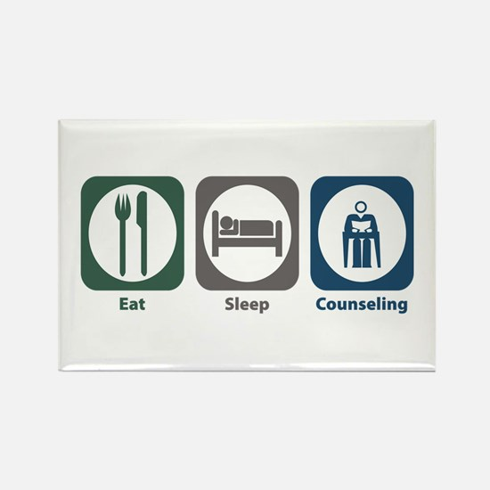 Eat Sleep Counseling Rectangle Magnet