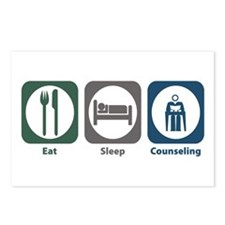 Eat Sleep Counseling Postcards (Package of 8)