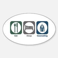 Eat Sleep Counseling Oval Sticker (10 pk)