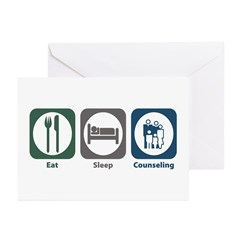 Eat Sleep Counseling Greeting Cards (Pk of 20)