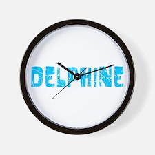 Delphine Faded (Blue) Wall Clock