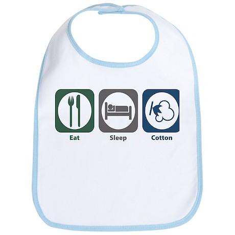 Eat Sleep Cotton Bib