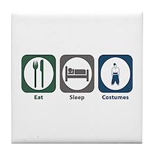 Eat Sleep Costumes Tile Coaster