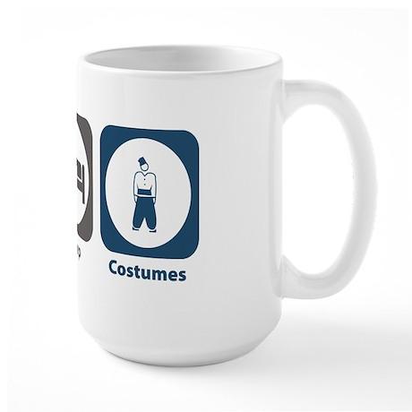 Eat Sleep Costumes Large Mug