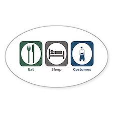 Eat Sleep Costumes Oval Decal
