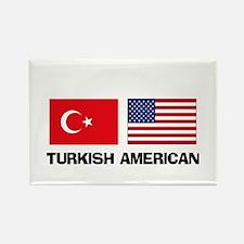 Turkish American Rectangle Magnet
