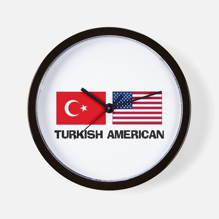 Turkish American Wall Clock
