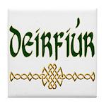 Sister in Gaelic (Knot) Ceramic Tile