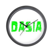 Dasia Faded (Green) Wall Clock