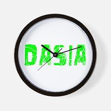 Dasia Faded (Green) Wall Clock