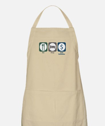 Eat Sleep Cost Estimates BBQ Apron