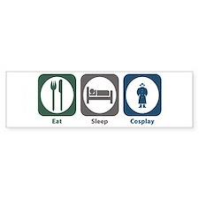 Eat Sleep Cosplay Bumper Bumper Sticker