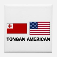 Tongan American Tile Coaster