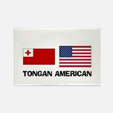 Tongan American Rectangle Magnet