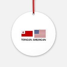 Tongan American Ornament (Round)