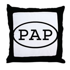 PAP Oval Throw Pillow