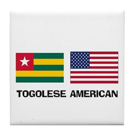 Togolese American Tile Coaster