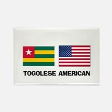 Togolese American Rectangle Magnet