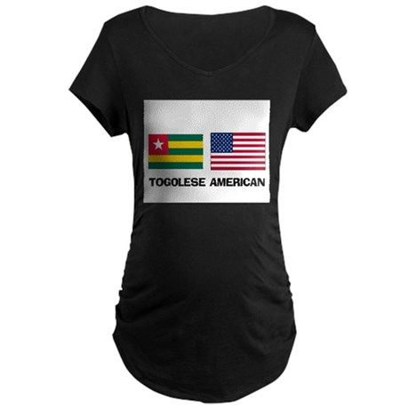 Togolese American Maternity Dark T-Shirt