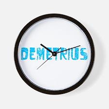 Demetrius Faded (Blue) Wall Clock