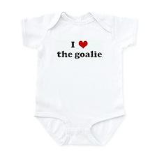 I Love the goalie Infant Bodysuit