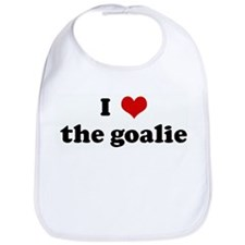 I Love the goalie Bib