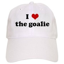 I Love the goalie Baseball Cap