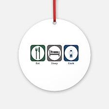 Eat Sleep Cook Ornament (Round)