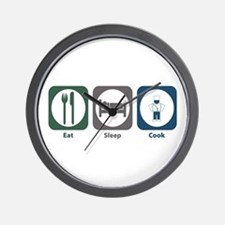Eat Sleep Cook Wall Clock