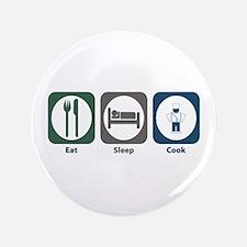 "Eat Sleep Cook 3.5"" Button"