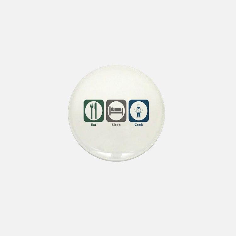 Eat Sleep Cook Mini Button