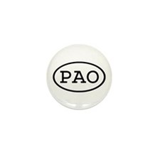PAO Oval Mini Button (10 pack)
