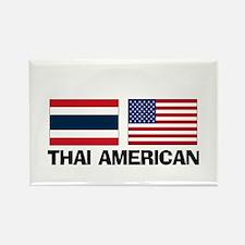 Thai American Rectangle Magnet