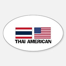 Thai American Oval Decal