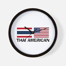 Thai American Wall Clock